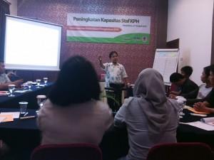 Pelatihan Peningkatan Kapasitas Staf KPH di KPHP Banjar